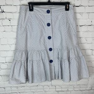 Odille Striped Lined Skirt